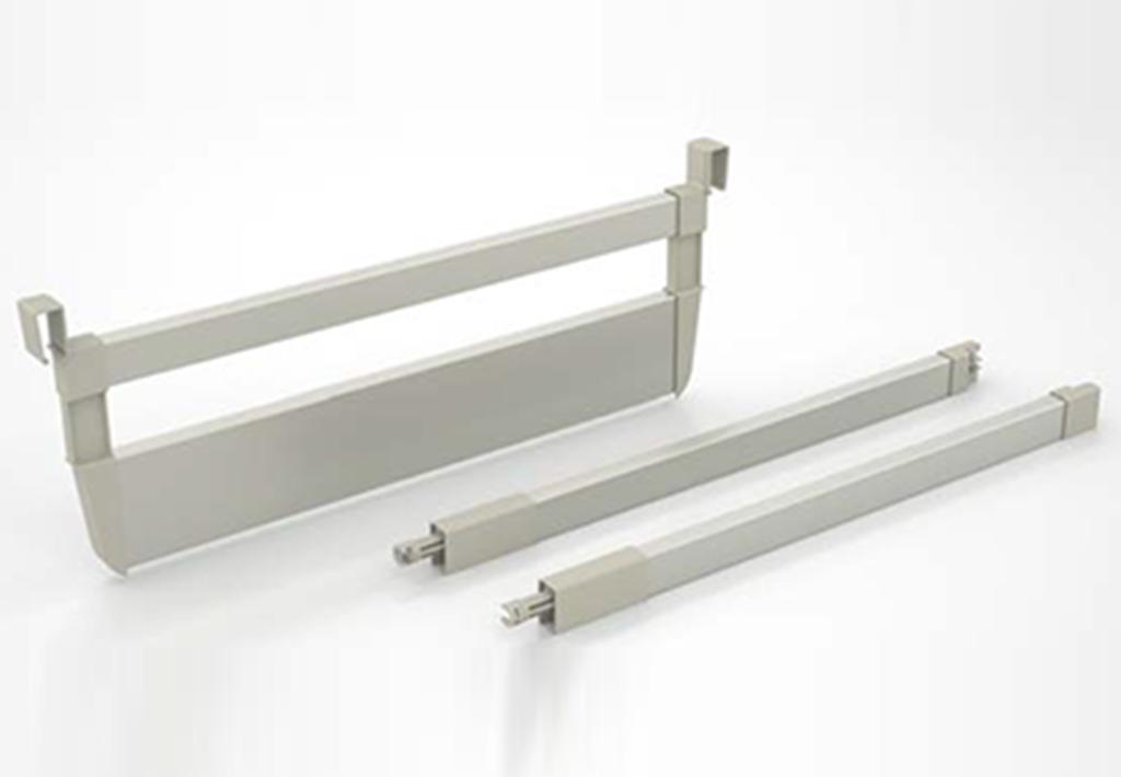 Ten Drawer System with Rectangular Railing