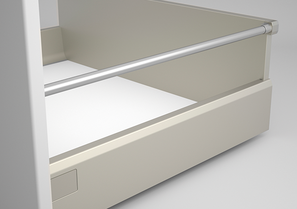 Ten Drawer System with Round Railing