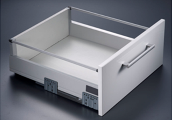 Uniplus Drawer System With Single Round Railings