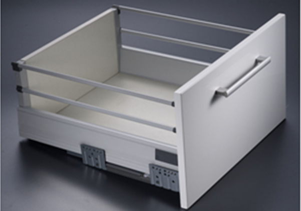 Uniplus Drawer System With Double Round Railings